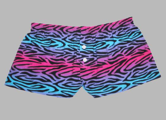 Zibra Party Flannel Bitty Shorts