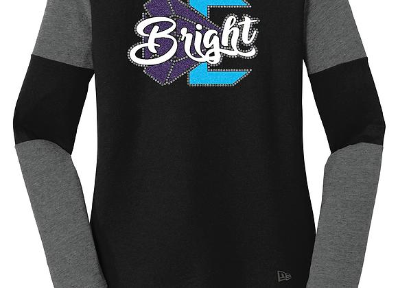 Bright New Era LS Rhinestone/Glitter Tee