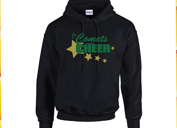 Jr Comets Cheer 3 Glitter Hoodie