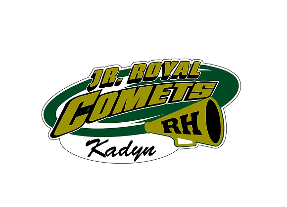Royal Comets Cheer Window Decal