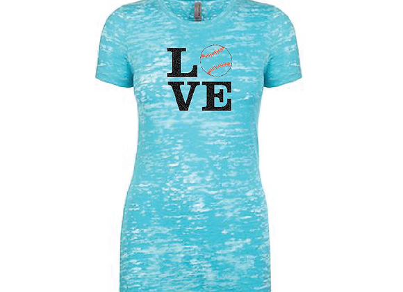 LOVE Burnout TEE