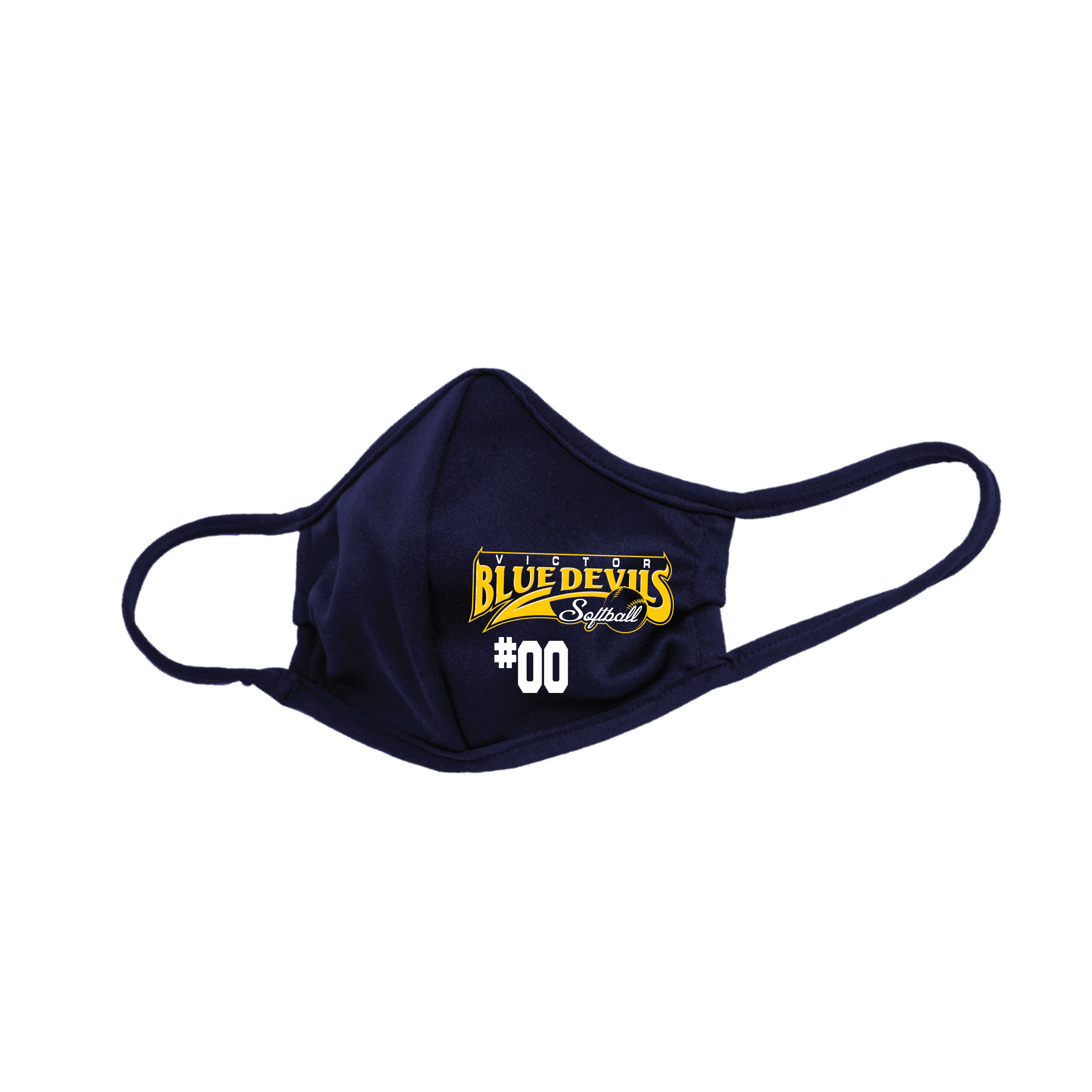 victor softball Mask with number