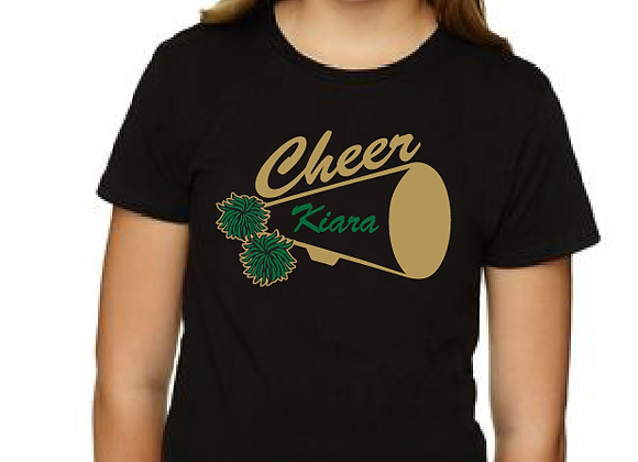 Mega Cheer Personalized Youth Fitted Tee