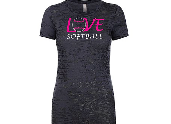 Love Softball with # Burnout TEE