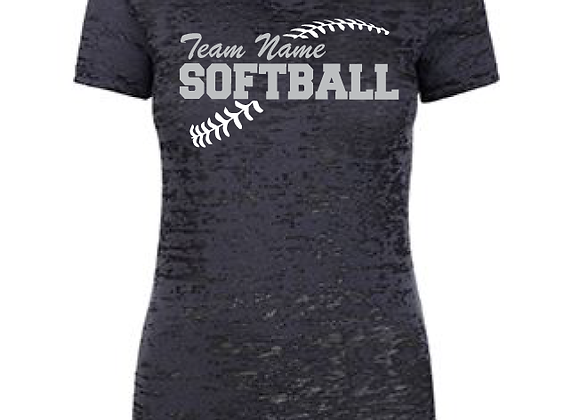 Softball Laces Burnout TEE