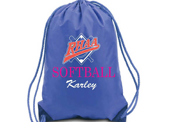 RHAA Personalized softball bag