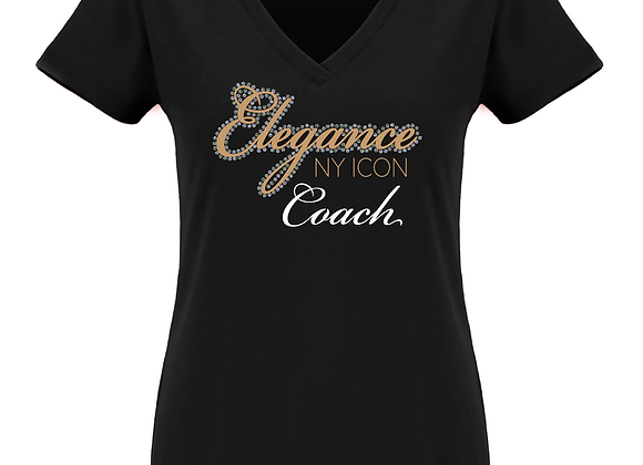 Elegance Coach Fitted V Tee