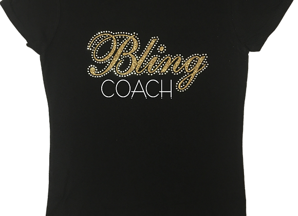Bling Coach Fitted Tee