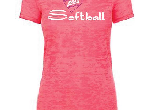 RHAA Love Softball Burnout TEE
