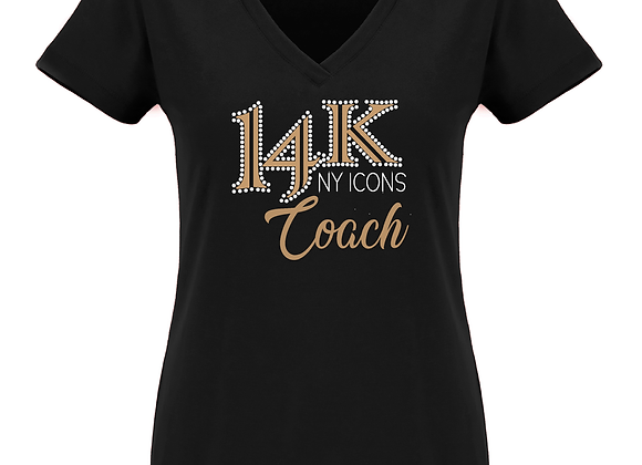 14K Coach Fitted V Tee