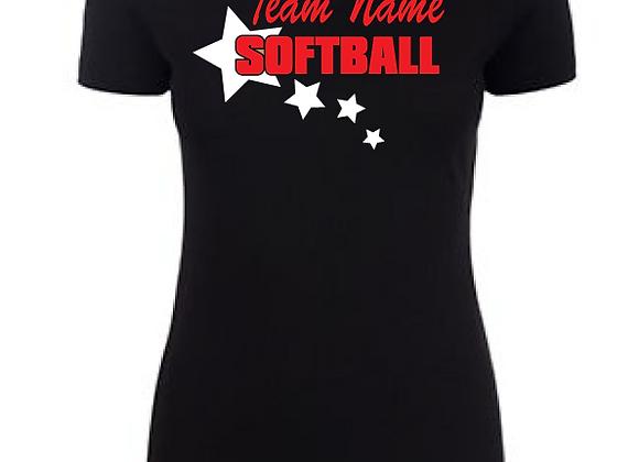 Softball Star Ladies Tee