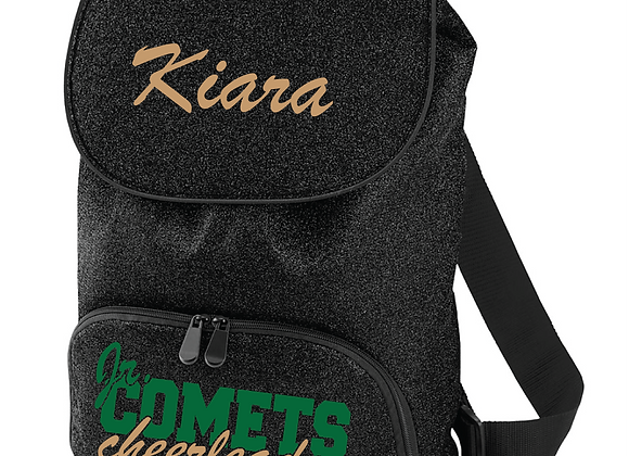 Comets Cheer Glitter Backpack