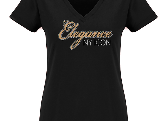 Elegance Fitted V Tee