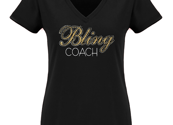 Bling Coach Fitted V Tee
