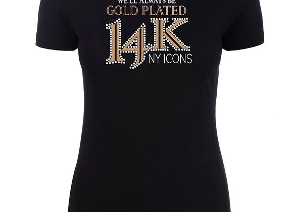 14K Gold Plated Fitted Tee