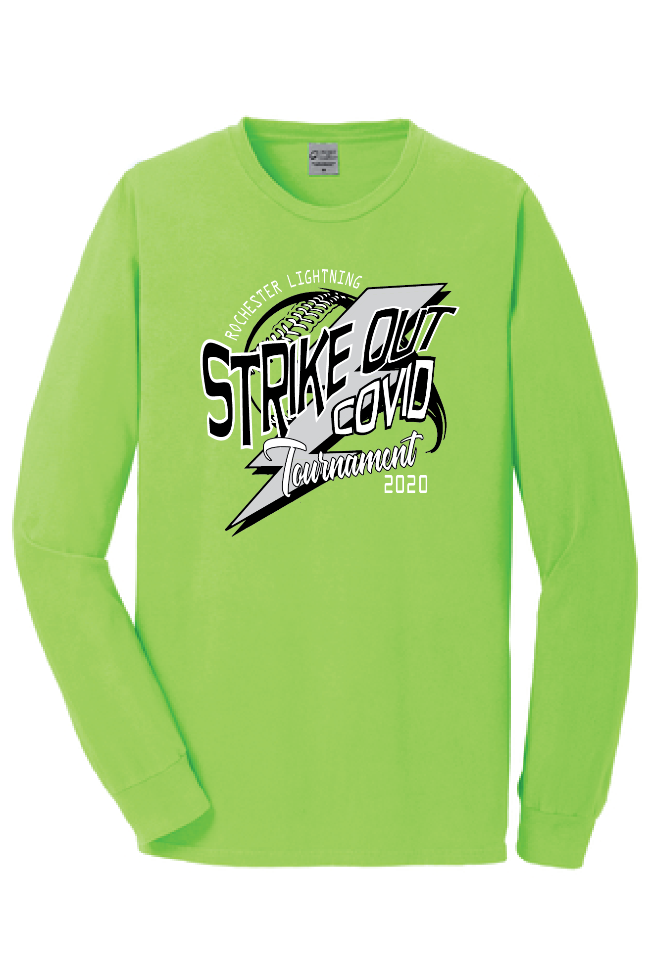 SOC tee Front lS green