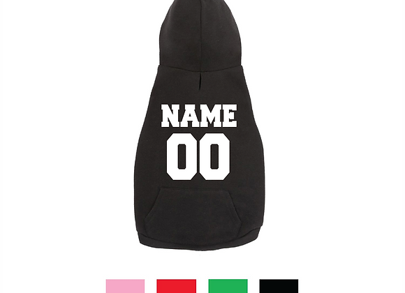 Dog & Cat Basic Hoodie with Name & Number