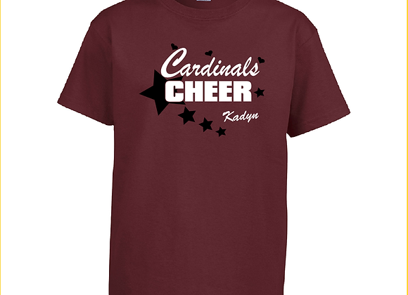 Cheer Star Adult Personalized Tee