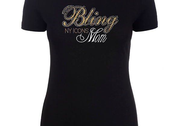Bling Mom Fitted Tee