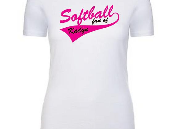 Softball Fan of...Cotton/Poly TEE
