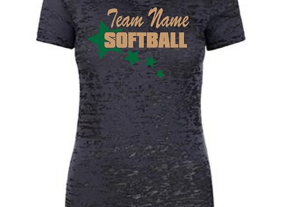 Softball Star Burnout Tee