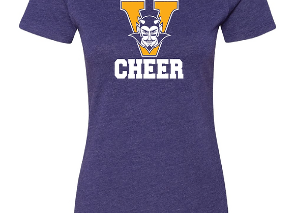 Victor Cheer Fitted TEE1