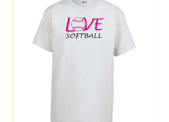Love Softball Cotton Tee