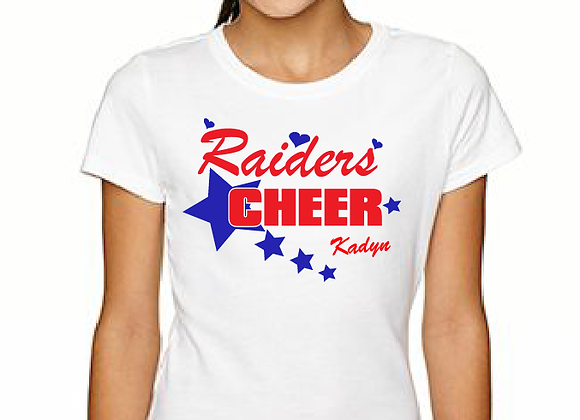 Cheer Star Personalized Youth Fitted Tee