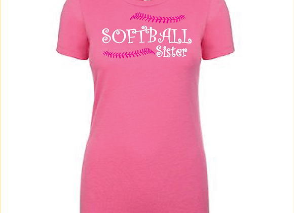 Softball Sister Laces Cotton/Poly TEE