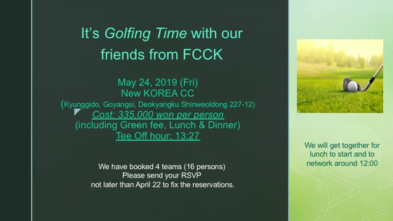 Save the Date for Golfing and Order Sunshine