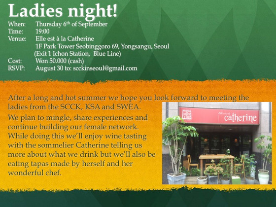 Join us at our Ladies - & Gents Night 6th of September!