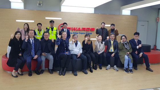 SCCK members visited Edwards Korea Ltd, a top producer of vacuum solutions and it was a wonderful ex