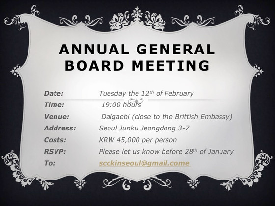 GENERAL ANNUAL MEETING