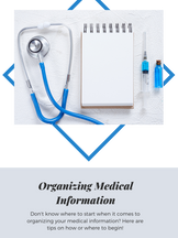 5 Steps to Organize Your Medical Information