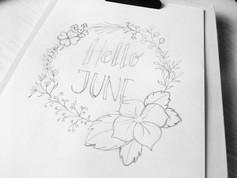 Handlettering // schets