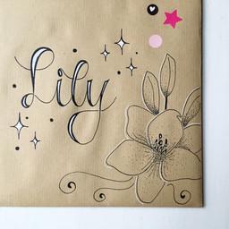 Cadeauverpakking & Handlettering