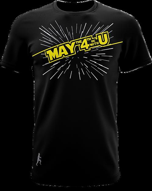 May The 4TH Fourth Camiseta Amarelo