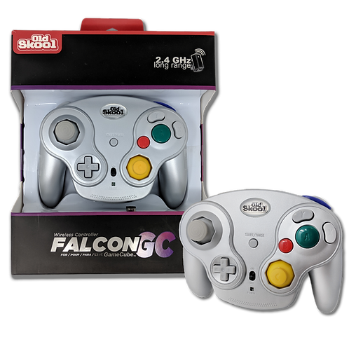 FALCON WIRELESS CONTROLLER FOR GAMECUBE -Silver