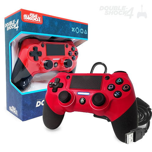 DOUBLE-SHOCK 4 Wired Controller (SCARLET RED)