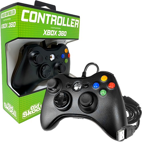 WIRED USB CONTROLLER FOR PC & XBOX 360 - BLACK