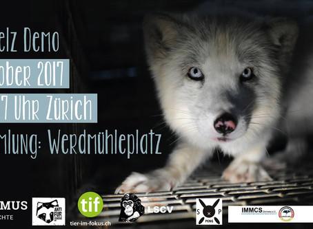 Die erste Demo gegen Pelz in der Schweiz