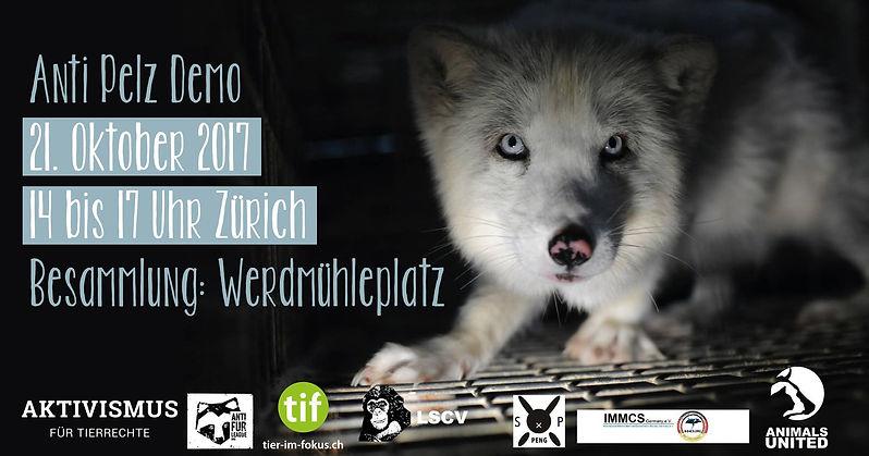 Demonstrationen sind ein wichtiges Mittel, um der Öffentlichkeit zu zeigen, dass uns der Tierschutz in der Schweiz am Herzen liegt. Echtpelz hat einen symbolischen Wert, da er - ähnlich wie z.B. Robbenprodukte - immer aus tierquälerischer Produktion stammt.