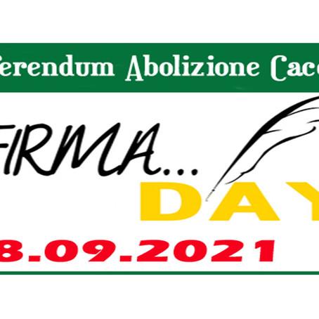 COMUNICATO STAMPA: Referendum Abolizione Caccia, il Partito Animalista Italiano propone un Firma Day