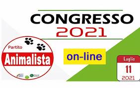 NEWS: Il Congresso del Partito Animalista Italiano si svolgerà on-line il giorno 11.07.2021