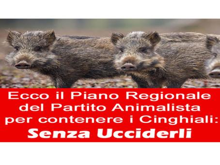 """Il Partito Animalista presenta il """"Piano Regionale  Contenimento dei Cinghiali"""", in modo incruento"""