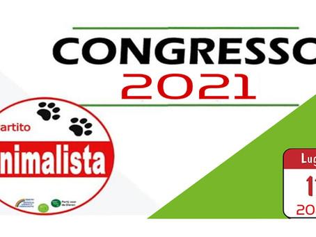 Congresso 2021 del Partito Animalista Italiano fissato al 11.07.2021