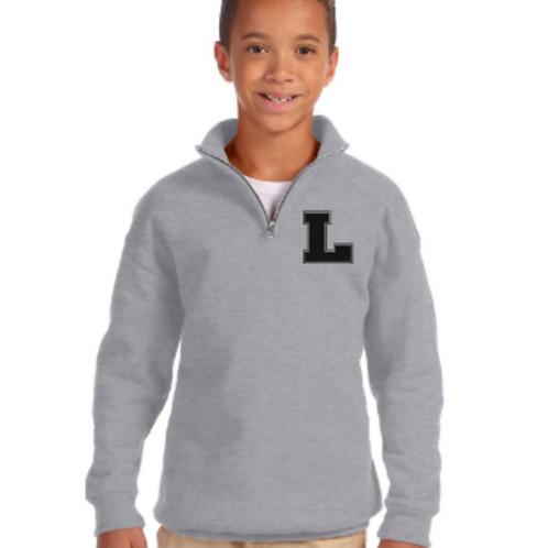 1/4 Zip Collar Sweatshirt - Youth