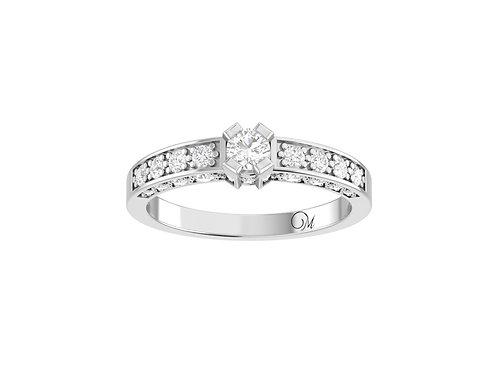 Petite Fancy Brilliant-Cut Diamond Ring - RP2101