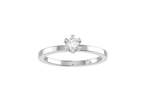 Petite Brilliant-Cut Diamond Ring - RP0319.01
