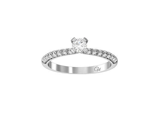 Petite Fancy Brilliant-Cut Diamond Ring - RP2505